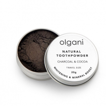OLGANI CHARCOAL & COCOA TOOTHPOWDER TRAVEL PACK 20G