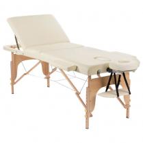 ORABI Wooden Portable Massage Bed (Beige) w Adj Head and Leg