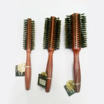 De Ville Brush - Wooden Boar - Round - 70mm