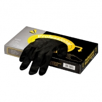 Professional Black Gloves - Latex - Box of 20pc - Medium