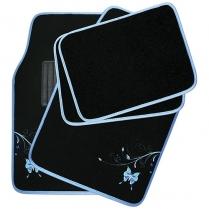 Mat Set Butterfly Blue (4Pce)