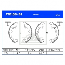 Brake Shoes ATE1004BS