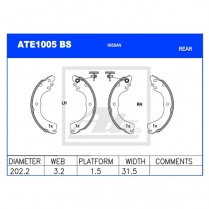 Brake Shoes ATE1005BS