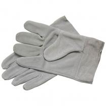Glove Leather Chrome 5cm Cuff