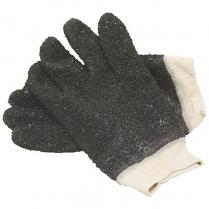 Glove Black Chip PVC Knitwrist