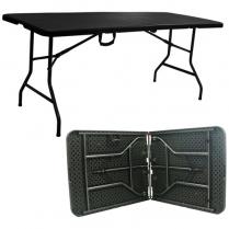 Table PE Rattan Rect 180x75x74