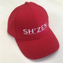 Gift - Red Peak Cap with White Embroidery